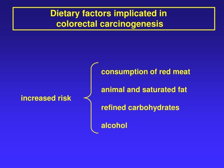 Dietary factors implicated in