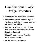 combinational logic design procedure