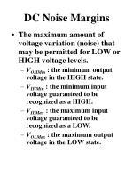 dc noise margins