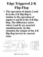 edge triggered j k flip flop