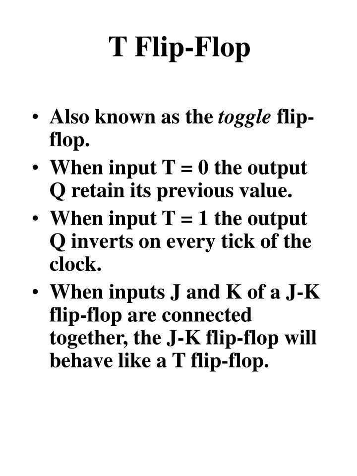 T Flip-Flop