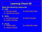 learning check n2