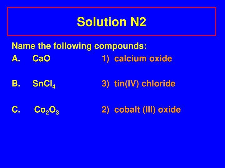 Solution N2