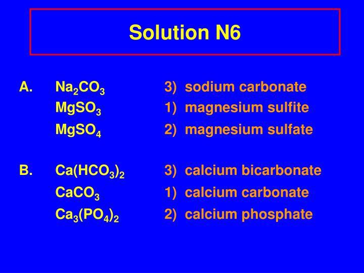 Solution N6