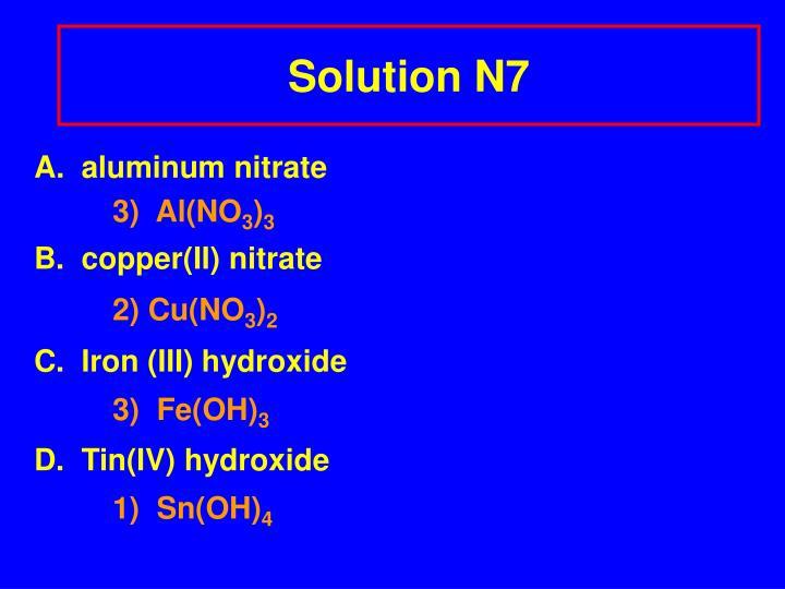 Solution N7