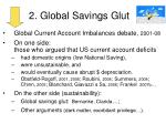 2 global savings glut