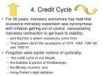 4 credit cycle