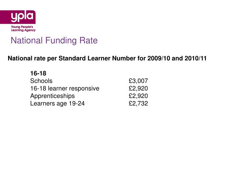National Funding Rate