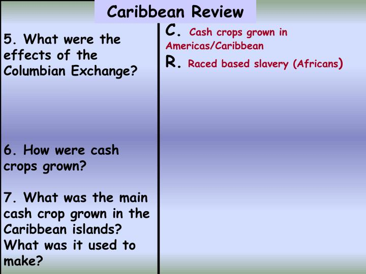 5. What were the effects of the Columbian Exchange?