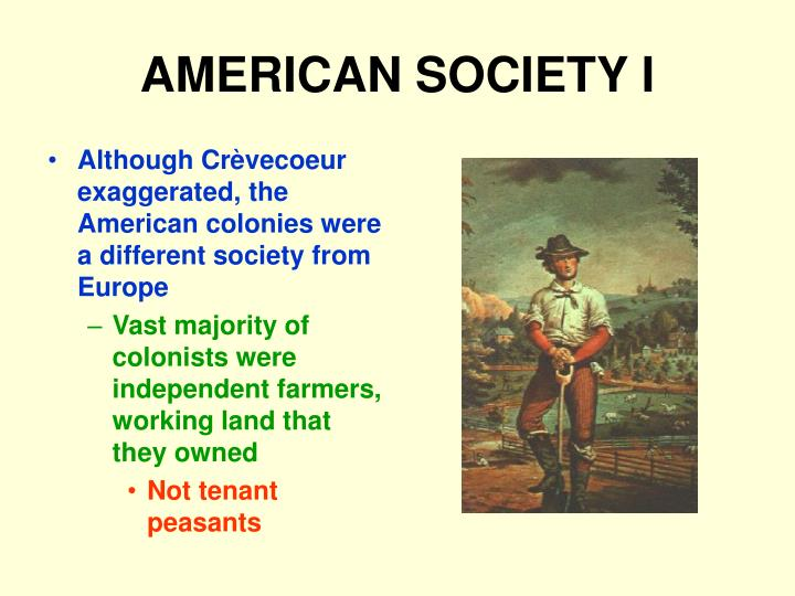 AMERICAN SOCIETY I
