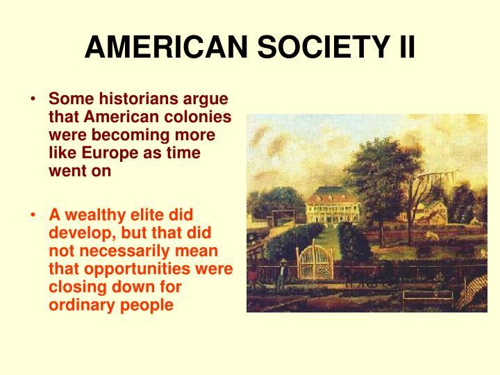AMERICAN SOCIETY II