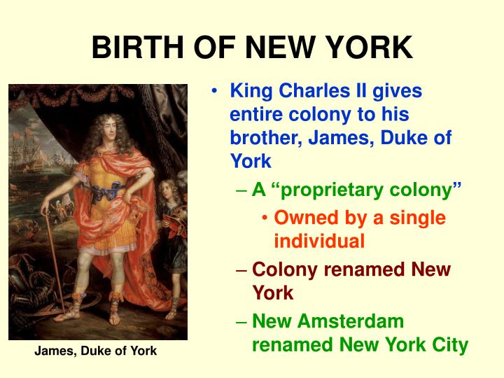 BIRTH OF NEW YORK