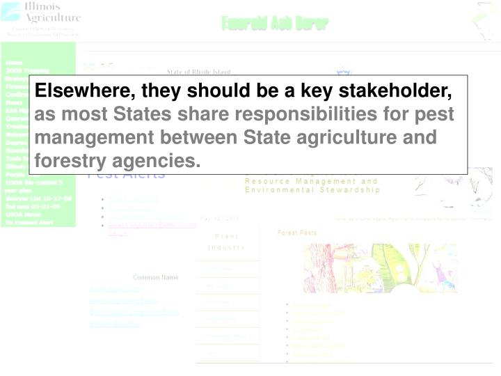 Elsewhere, they should be a key stakeholder,