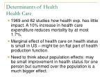 determinants of health health care