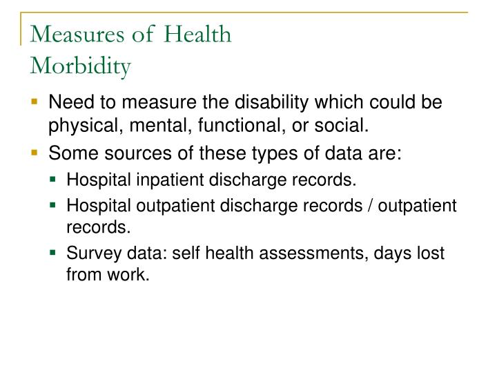 Measures of Health