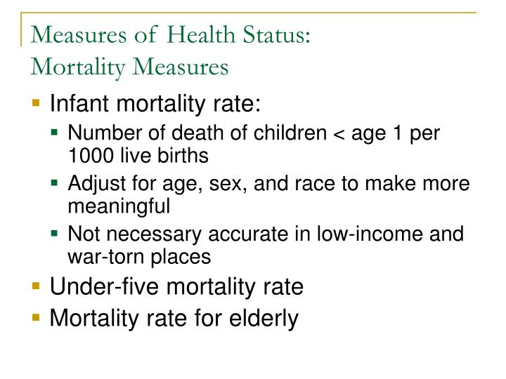 Measures of Health Status: