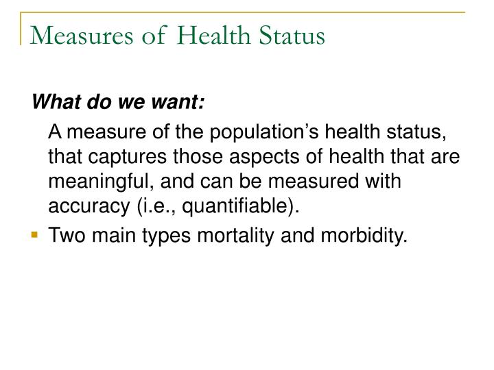 Measures of Health Status