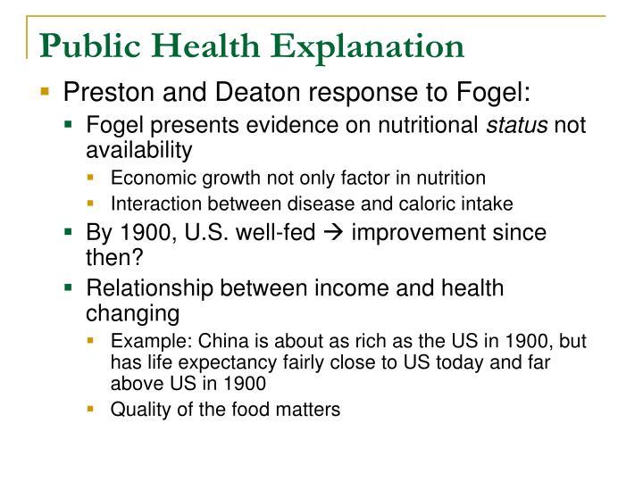 Public Health Explanation
