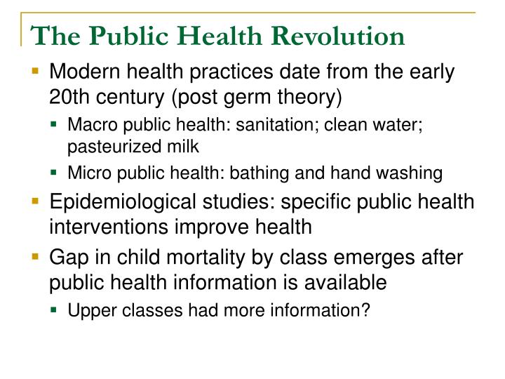 The Public Health Revolution
