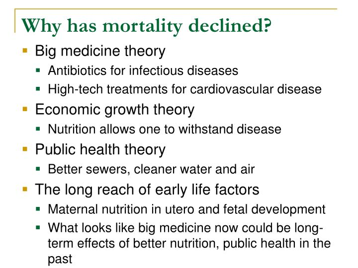 Why has mortality declined?