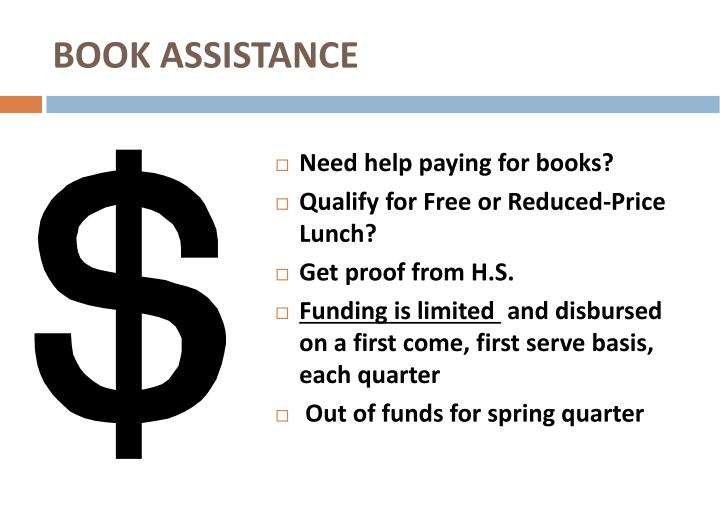 BOOK ASSISTANCE