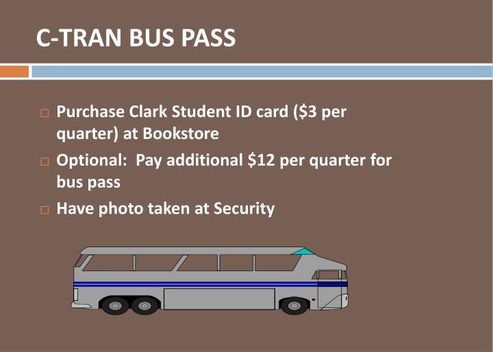 C-TRAN BUS PASS