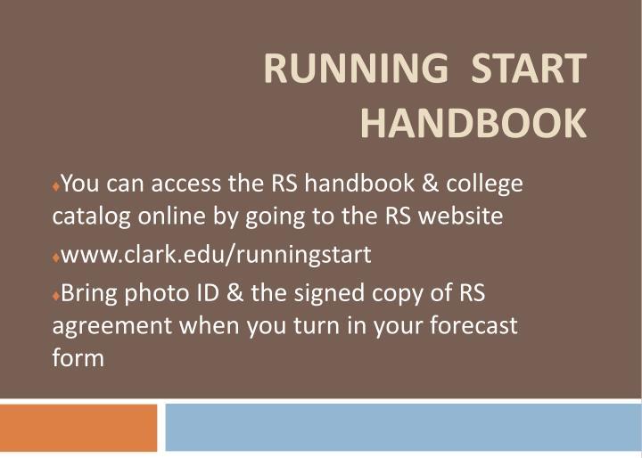 RUNNING  START  HANDBOOK