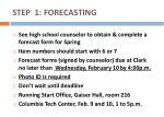 step 1 forecasting