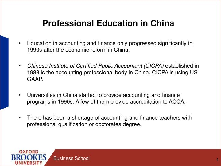 Professional Education in China