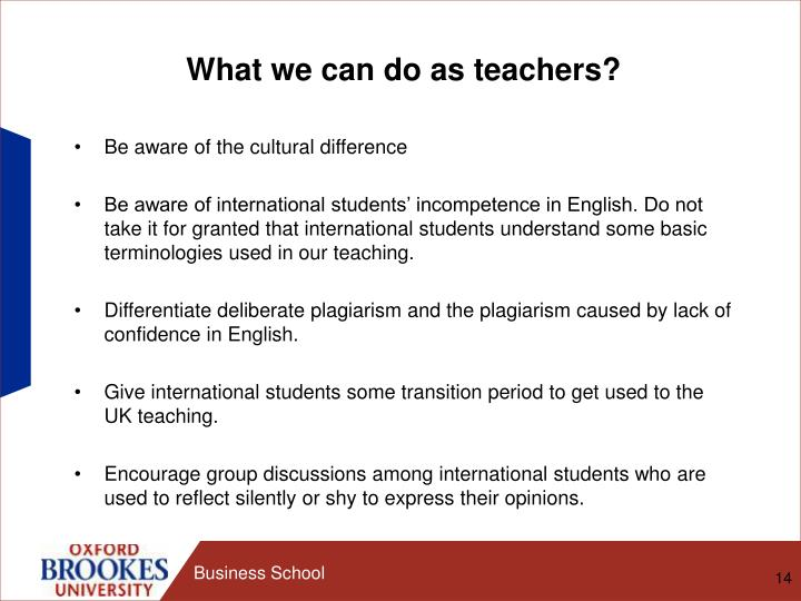 What we can do as teachers?
