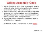 writing assembly code