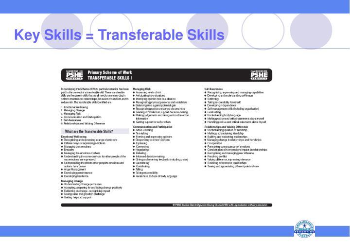 Key Skills = Transferable Skills