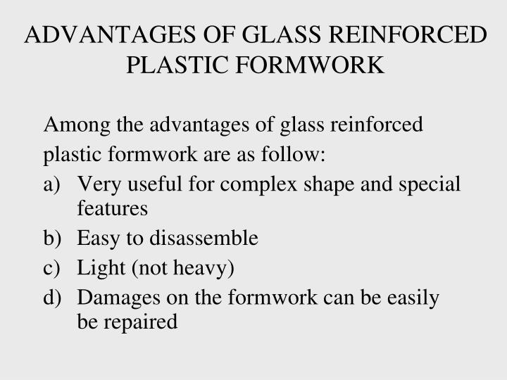 ADVANTAGES OF GLASS REINFORCED PLASTIC FORMWORK
