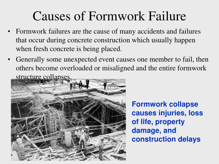 Causes of Formwork Failure