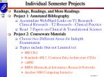 individual semester projects