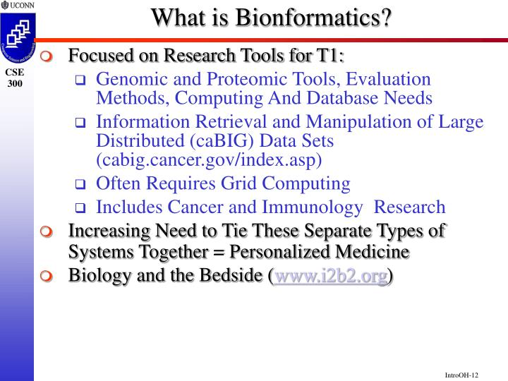 What is Bionformatics?