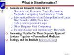 what is bionformatics