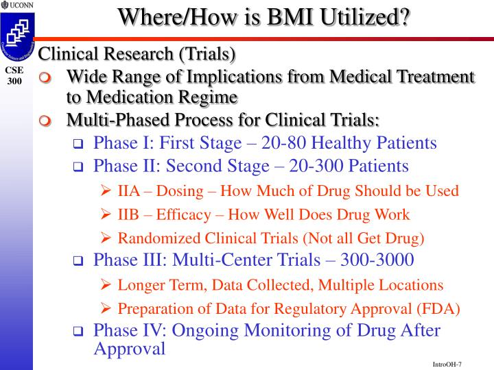 Where/How is BMI Utilized?