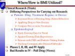 where how is bmi utilized2