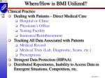 where how is bmi utilized4