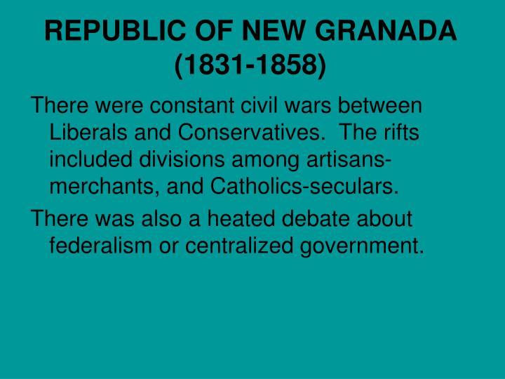 REPUBLIC OF NEW GRANADA (1831-1858)