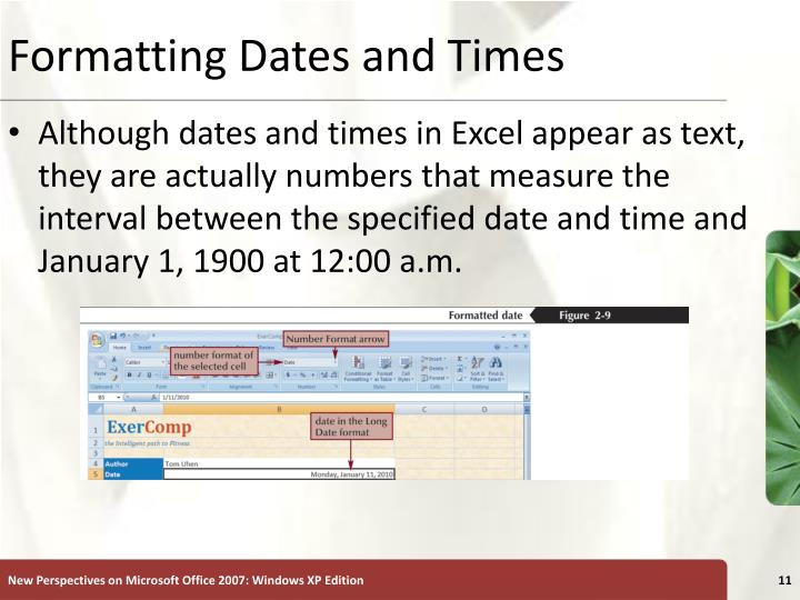 Formatting Dates and Times