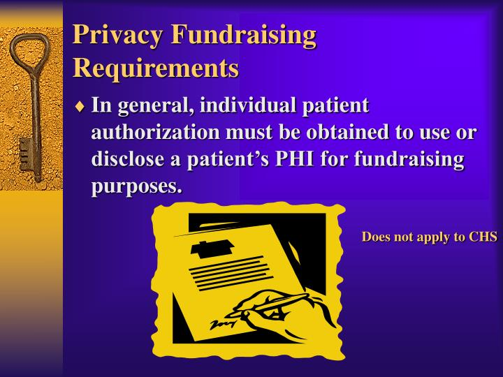 Privacy Fundraising Requirements