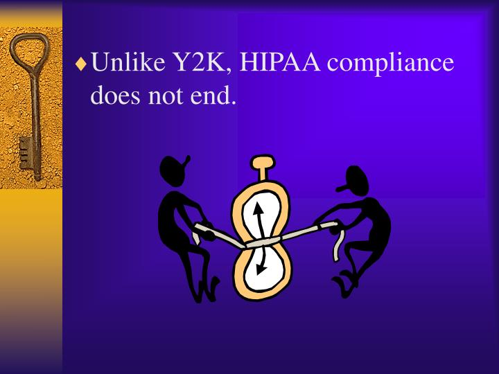 Unlike Y2K, HIPAA compliance does not end.