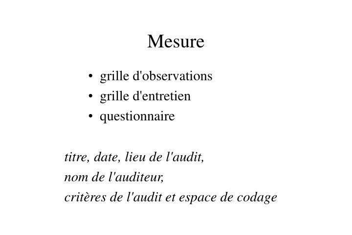 Mesure