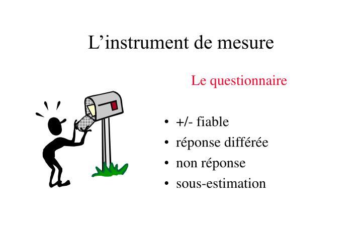 L'instrument de mesure
