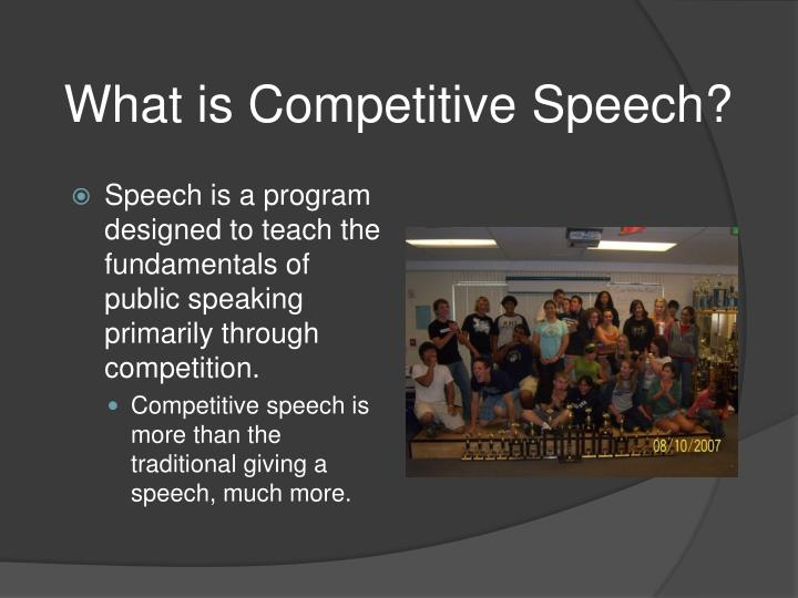 What is Competitive Speech?