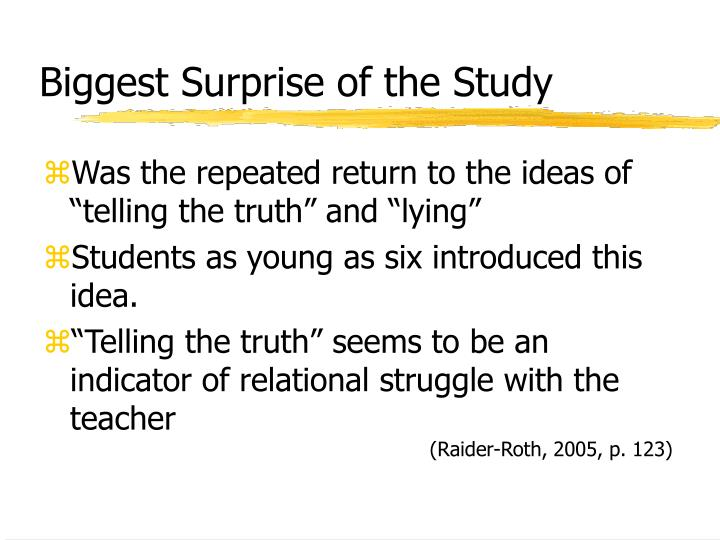 Biggest Surprise of the Study