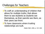 challenges for teachers