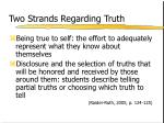 two strands regarding truth